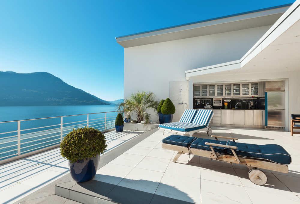 El lujo de vivir en un ático con terraza